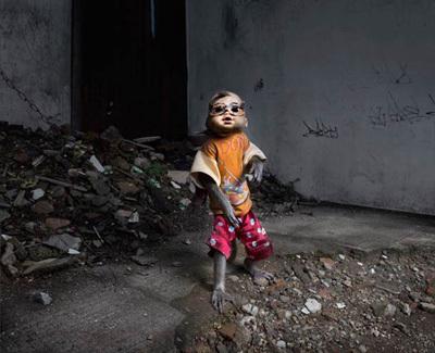 Kampung Monyet, the Masked Monkey Slum of Jakarta, Indonesia