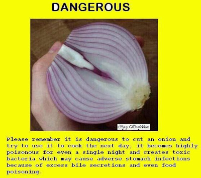 LEFT OVER, CUT ONIONS BECOME TOXIC - FACTS ANALYSIS