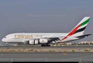 5-  Emirates Airlines Airbus A380 at Dubai Int