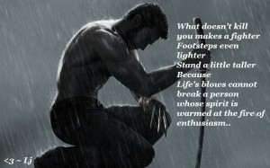 (X)(X)(X)The-Wolverine-Life's -- Lj---blows cannot break a person whose spirit is warmed at the fire of enthusiasm.