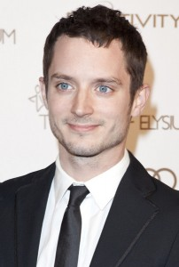 Elijah Wood's peepers are an eye popping hue of blue.