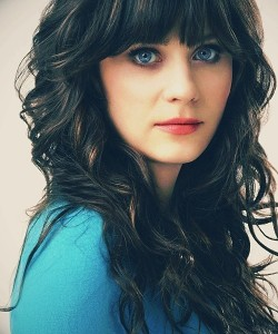 Zooey Deschanel: most striking, big blue eyes