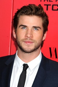 Australian actor Liam Hemsworth stands out with bright blue eyes.