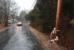 Bill Denver for New York Daily News A memorial is set up on Simontown Road in Pemberton Township, N.J.,  where 22-year-old Hyphernkemberly Dorvilier is accused of burning her newborn daughter alive.