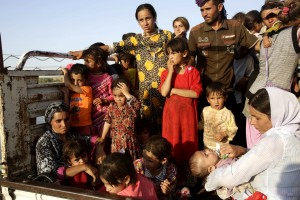 Displaced Yazidi's re-enter Iraq from Syria on August 14th Photo: Reuters