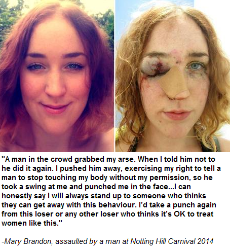 Guy Brutalises Woman After She Asked Him to Stop Grabbing her Bum