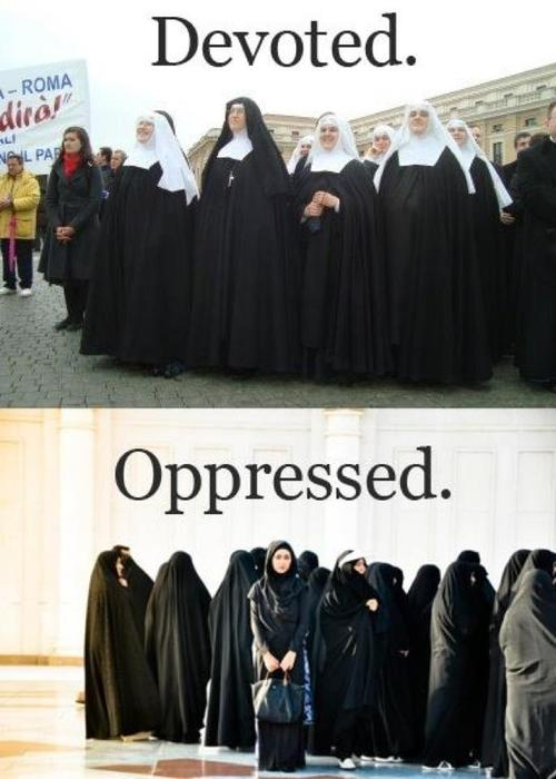 Burqa not worn women of one faith only
