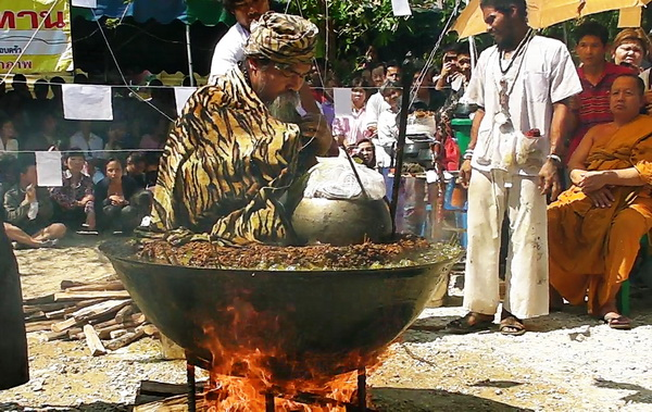 Buddhist Monks Engage in a Religious Rite Quite Unusual: Meditating in a Pot of Oil