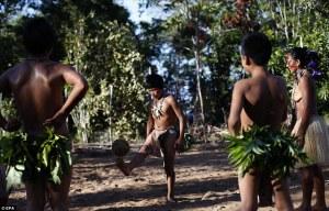 (X)AMAZONIAN Tatuyo children play soccer