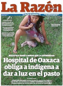 Shocking Photo Shows Mexican Woman Giving Birth On Grass After Hospital Refused To Admit Her