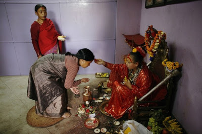 "Religion: Pictures of Living Goddess Who Are Worship As ""Kumari"""