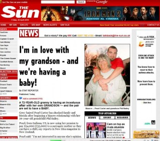 Bizarre Relationship:  Grandmother falls in love and is having baby with 26-year-old grandson