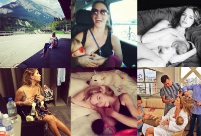 """The Paradise lies beneath the feet of your mother""  (With Celebrity Moms' Breastfeeding Photos)"