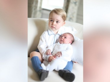 Prince George and Princess Charlotte of UK