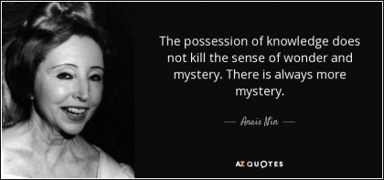 Wonder and Mystery quotes and images