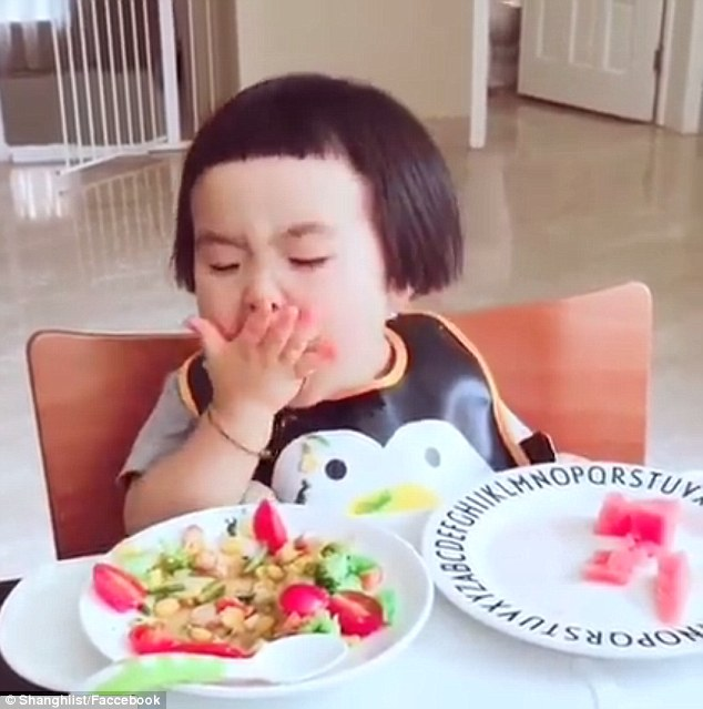 Little girl with big appetite takes social media by storm
