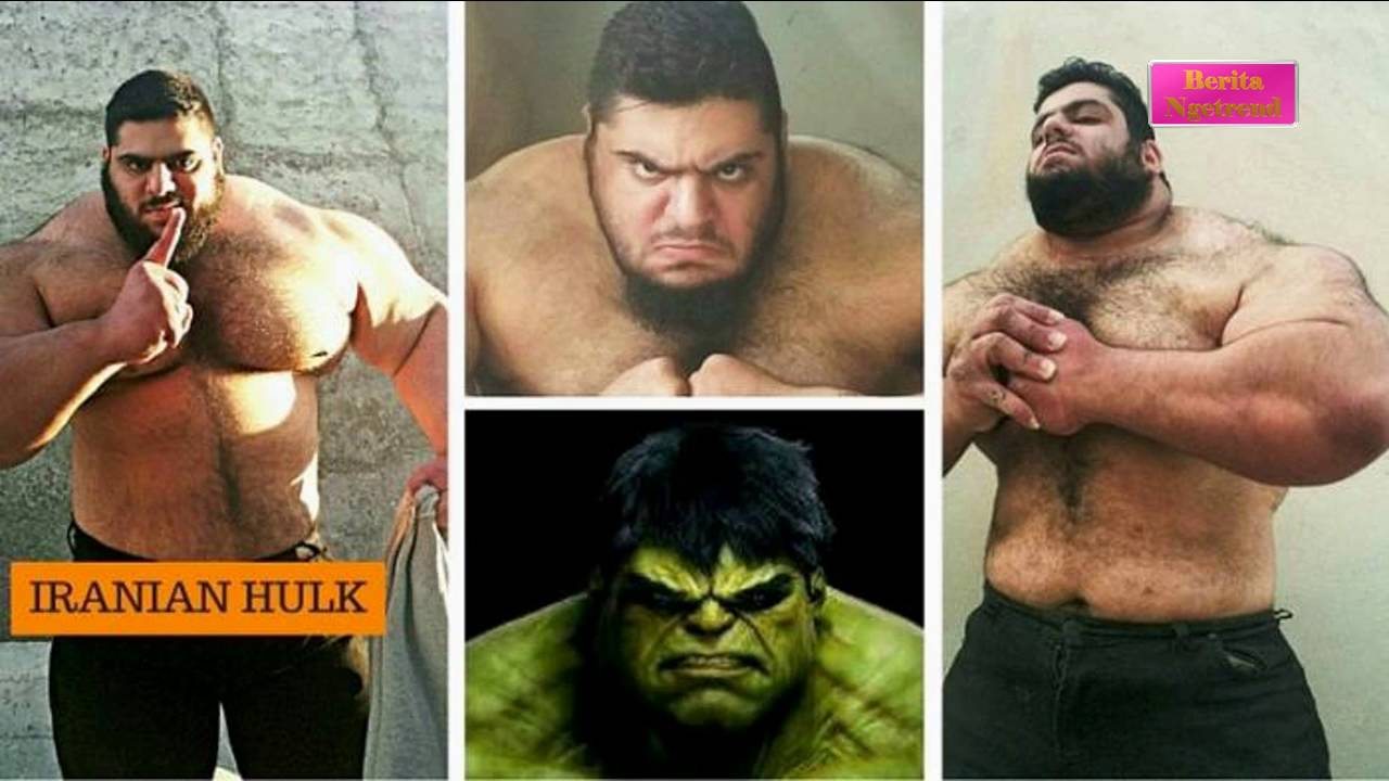 Iranian Incredible Hulk Sajad Gharibi is 24 stone of near solid muscle