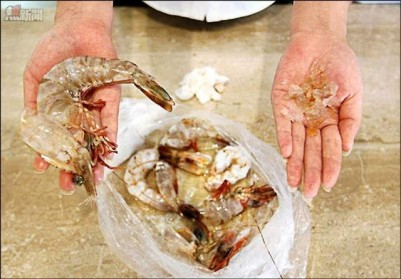 China: The Curious Case of the Gel-Injected Shrimp