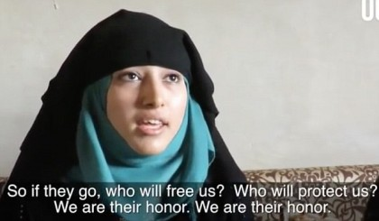 Syrian wives and mothers left behind condemn men who have fled the country