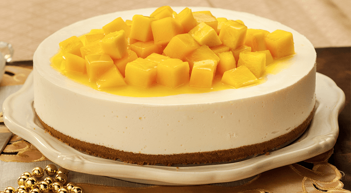 FOOD: No Bake Mango Cheesecake