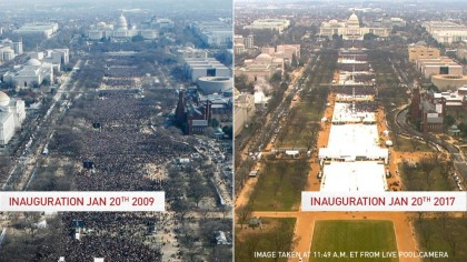 POLITICS: President Donald Trump Inauguration, Compare 2017 With 2009