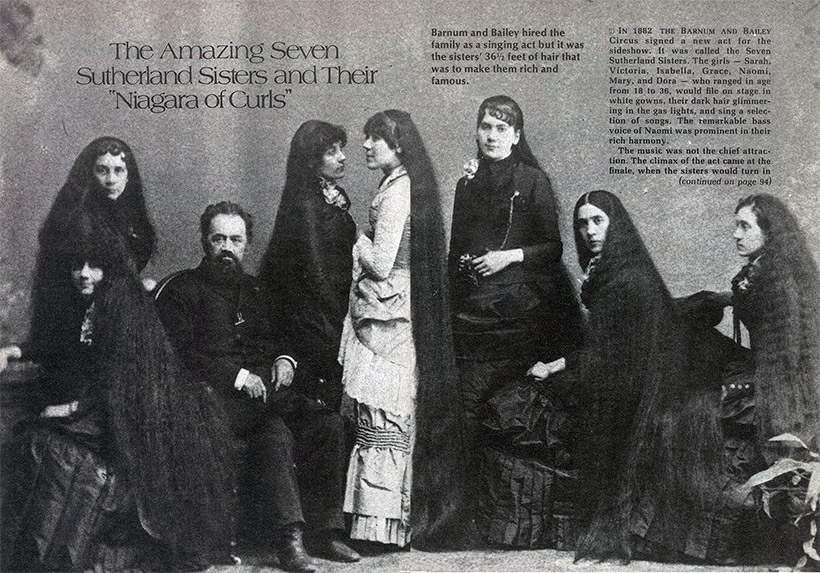 BEAUTY:  The Real-Life Rafunzels, The Tale of the Seven Sutherland Sisters and Their 37 Feet of Hair