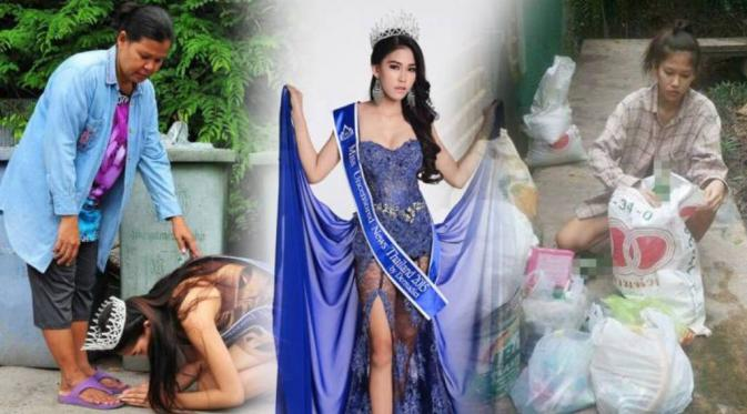 VIRAL PEOPLE: Reason Why This Thai Beauty Queen Is Bowing Down Next To Bins Will Touch Your Heart