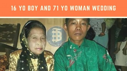CRAZY LOVE: 16 Year Old Boy And 71 Year Old Woman Wedding, Love Then Obsession