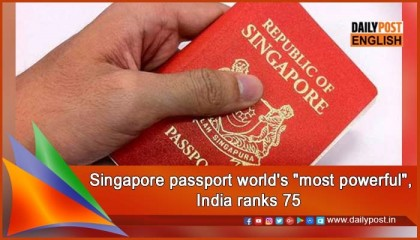 TRAVEL: Tiny Singapore has world's most powerful passport — ranking