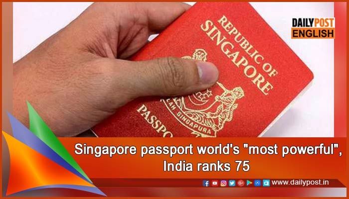 TRAVEL: Tiny Singapore has world's most powerful passport — ranking