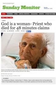 VIRAL HOAX: The Truth About The Priest Who Died and Saw God as a Woman