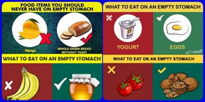HEALTH EDUCATION: Foods You Should Not Eat On An Empty Stomach And Good Foods To Eat On An Empty Stomach