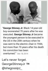 PEOPLE: In 1944, George Stinney Jr., Age 14, Black And Sentence To Die