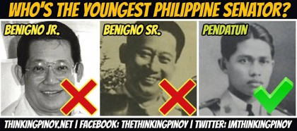 PEOPLE: Who Is The Youngest Elected Senator In Philippine History, Maguindanaon Salipada K. Pendatun Or Benigno Aquino, Sr?