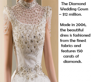 FASHION: Most Expensive Wedding Dresses or Gowns